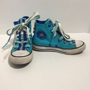 Converse All Star blue & gray high top sneakers 13